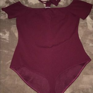 Bodysuit with attached chocker